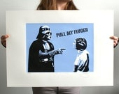 Star Wars Darth Vader Pull My Finger Hand Pulled Limited Edition Screen Print