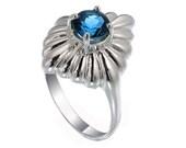 London Blue Topaz Sterling Silver Women Ring