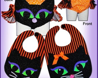 CAT EARS Diaper Cover and Bib - PDF Pattern