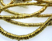 Brass Ethiopian Heishi Beads Gold Color (BB-43)