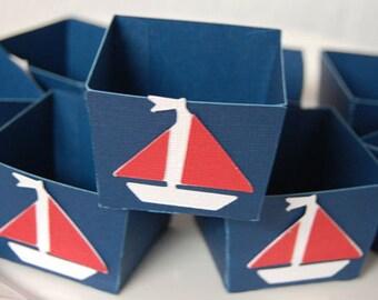 Sailboat Candy Cups, Nut Cups, Dessert Cups, Shower Favors, Nautical, Sailboat Shower, 12 Pcs
