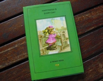 Happiness Is Every Day 1970s vintage hardback poetry book
