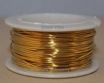 BRASS WIRE ROUND 18 Gauge 1 oz. Spool - For Wire Wrapping, Wig Jig Design, Wire Jewelry Design