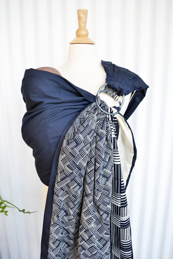 Baby Ring Sling with Reversible  2 Layers of Printed Cotton Panel - Givenchy Bebe -  - Baby Carrier Wrap With DVD
