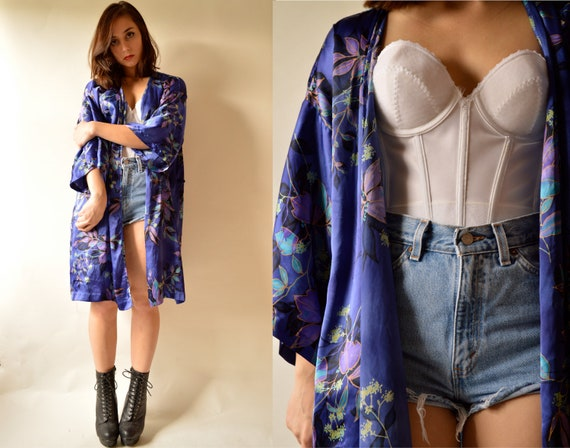 90's Beautiful Blue Kimono