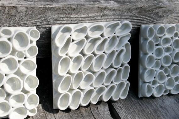 Set of 3 ceramic  decorative tiles 20% off special sale