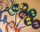 Halloween Eyes Cupcake Toppers