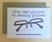 Beer Glasses to Reading Glasses - Birthday Card