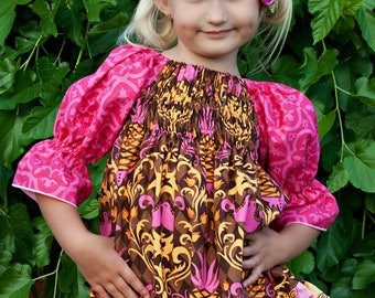 Matilda's Shirred Peasant Dress and Top PDF Pattern size 6-12 months to size 8