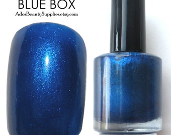 Blue Box Nail Polish Large 16ml Vegan Non-Toxic