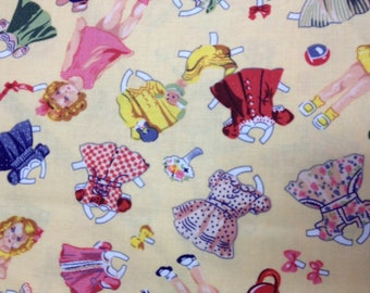 Fabric - Timeless Treasures Cut Out Dolls and Clothes Fabric - OOP