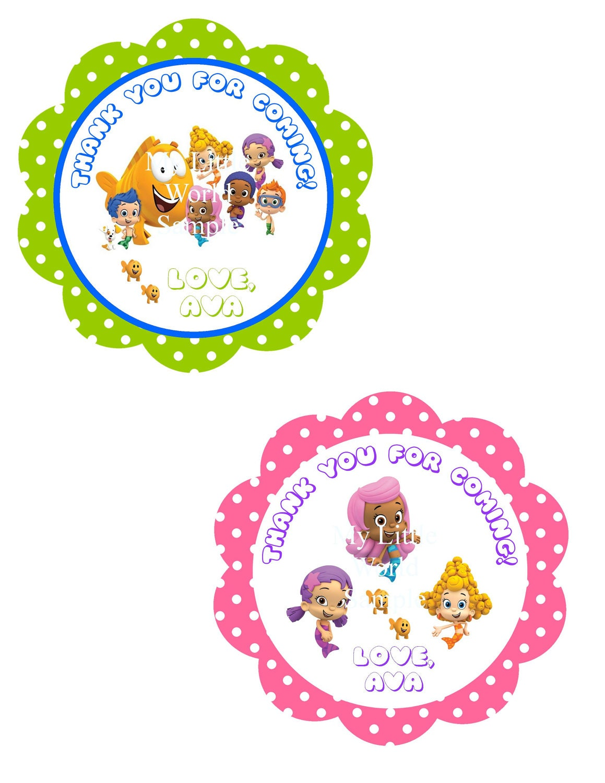 Free Printable Bubble Guppies Invitations Bubble guppies tags diy