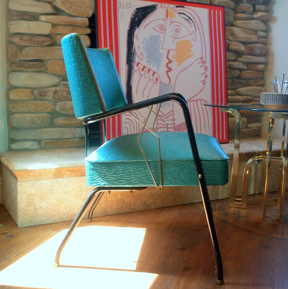 Vintage Art Deco Style 1950s Chair Mid Century By