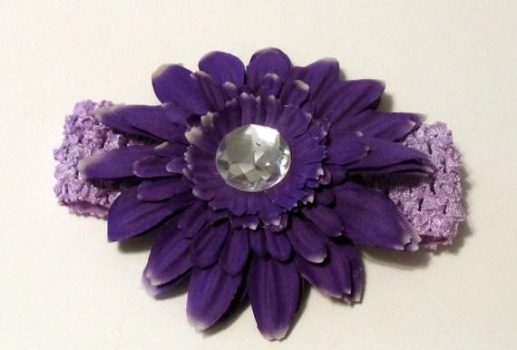 New Born Baby Headband Lilac Purple