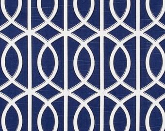 Decorative pillow cover, Dwell Studio, Navy Bella links, trellis pillow