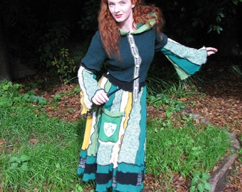 Custom made girl's or women's multi-colored sweater coat for elf and fairy friends