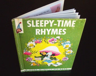 Vintage Rand McNally Book - Sleepy Time Rhymes - 1964