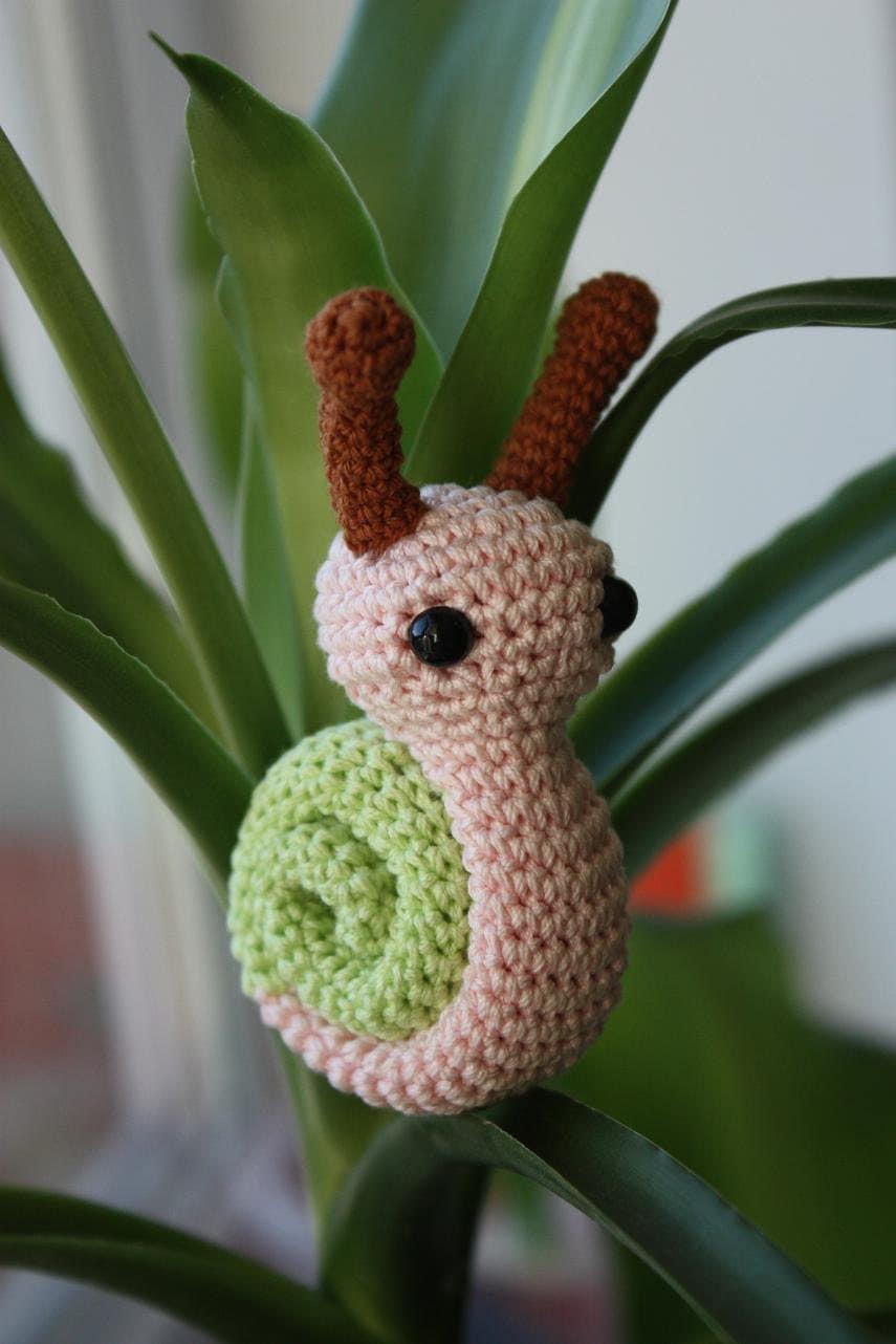 Tutorial Caracol Amigurumi Snail : Amigurumi Snail Pattern Crochet Pdf Tutorial In di ...