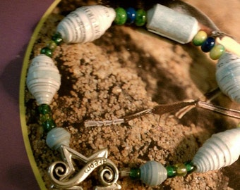 Paper Memory Bead Bracelet Made from Your Wedding/Event Invitation