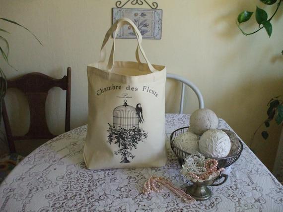 Reusable grocery bag, gift bag, canvas tote, cotton tote, gym bag, commuter bag,