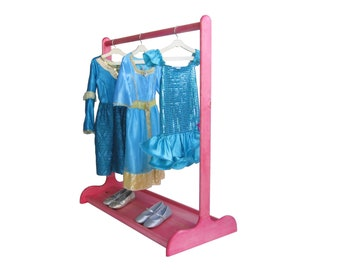 DRESS UP STAND for Children / Double Sided Shoe Rack / Ruby Pink / Other Colors Available