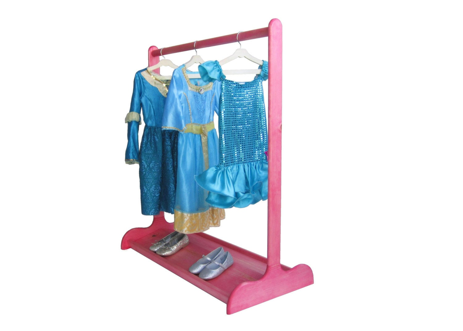 Dress Up Stand For Children Double Sided Shoe Rack Ruby