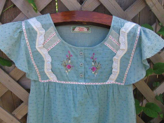 Clearance-Vintage Turquoise Blue Sundress