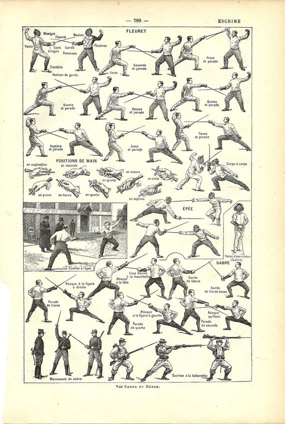 French Dictionary Page 1922 - FENCING - SPORT