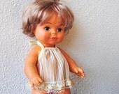 """Vintage Doll Baby, Playmates Hong Kong, Original Dress & Lace Bloomers, 11"""""""