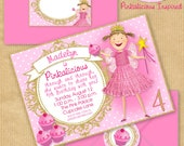 "PINKALICIOUS Party Invitation 5x7"" with Address Labels, Now Includes Envelope Templates - DIGITAL files only - PERSONALIZED Print yourself"