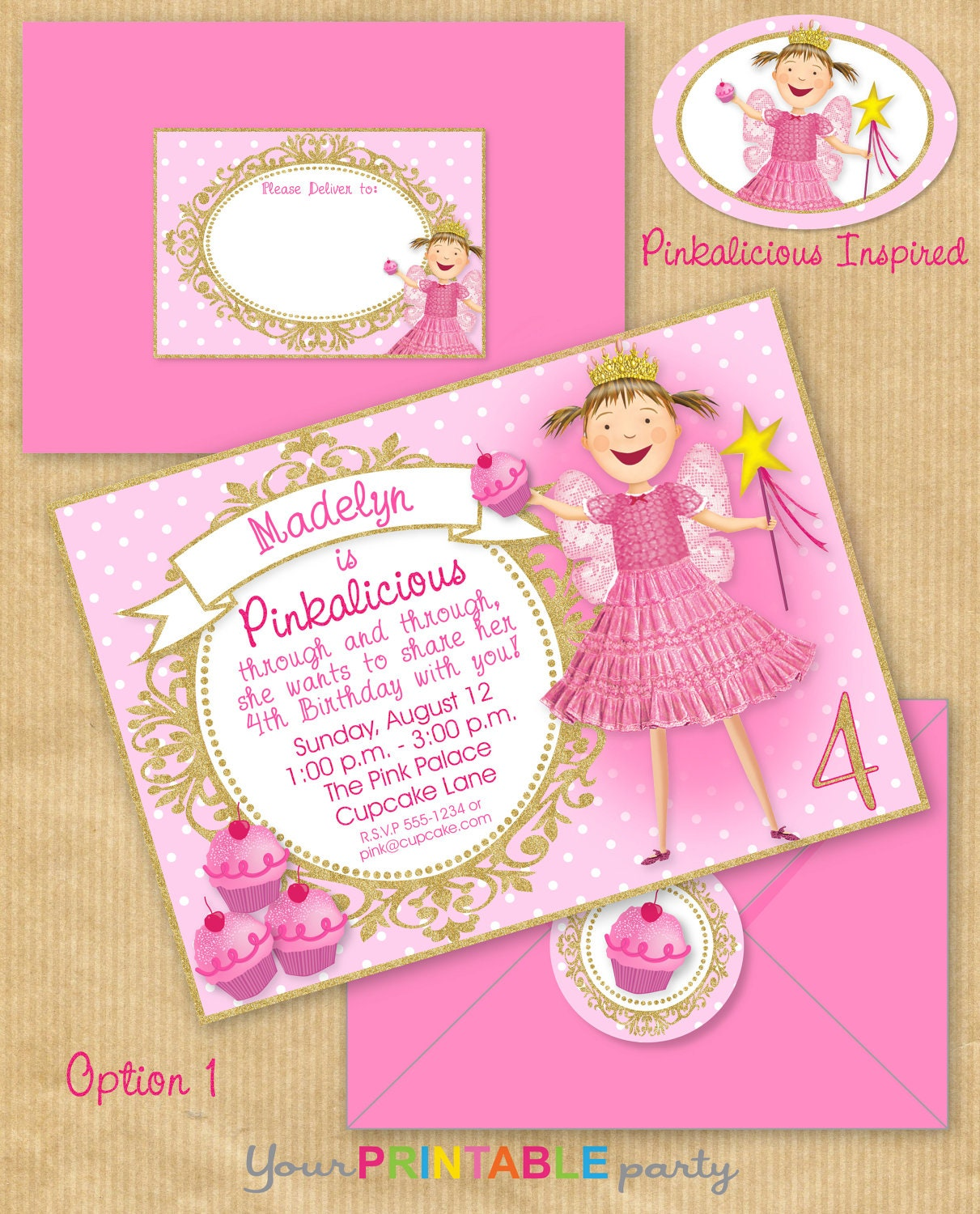 Pinkalicious Invitations – Pinkalicious Birthday Invitations