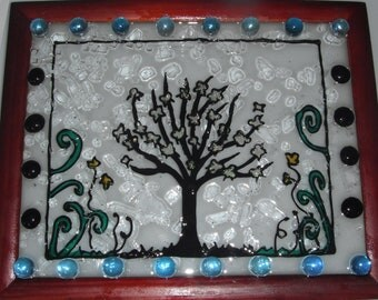 Stain glass  on Glass  Creations WINDOW ART OOAK Trees, Animals or anything you like me to make