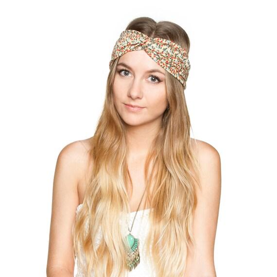 Floral Jersey Knit Stretch Turban Headband Turband