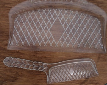 Reduced Price Vintage Clear Plastic CRUMB CATCHER Perfect for a little girl's Tea Party