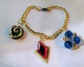 Zelda Spiritual Stone Charm Bracelet