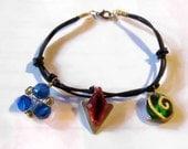 Zelda Charm Bracelet, Spiritual Stones, Black Cord