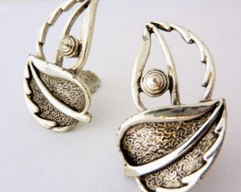 Sarah Coventry Leaf Motif Earrings, 1960s