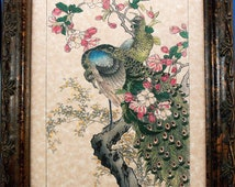 Japanese Peacock Art from 1899 Art Print on Parchment Paper