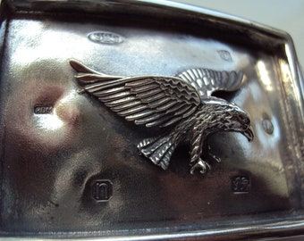 Solid Sterling Silver ''The American Eagle'' Belt Buckle