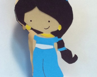 Handmade Princess Jasmine Card- Cardstock