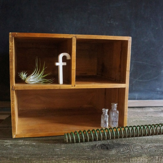 SALE- Wood Cubby Organizer- Free Shipping