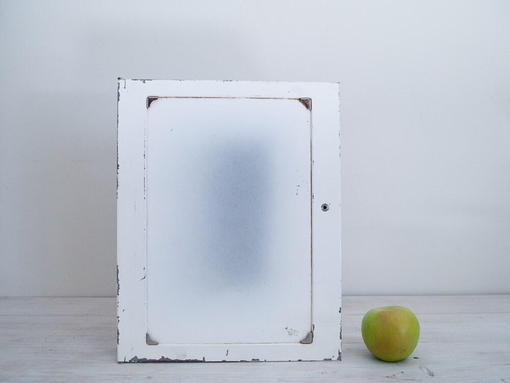 vintage white metal bathroom cabinet