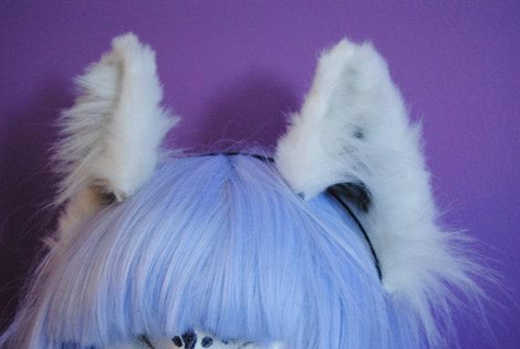 white wolf ears
