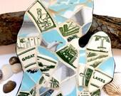 Mosaic Mitten State- Great Lakes Michigan Wall Art