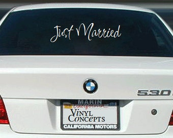 Just Married - Vinyl Wall Art