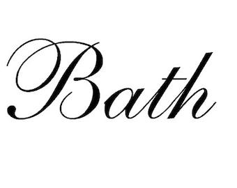 Bath - Vinyl Wall Art