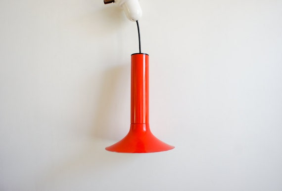 RESERVED  vintage french mod lamp, made by LITA, from the 60-70's, in bright orange
