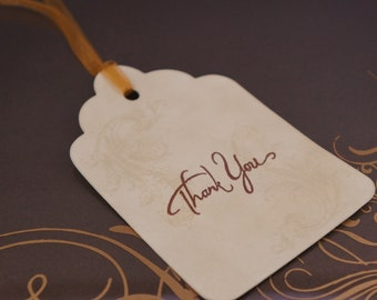 Thank You Tags - Vintage Style  (Set Of 5)