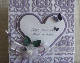 Anniversary Card / Colour Choices Available