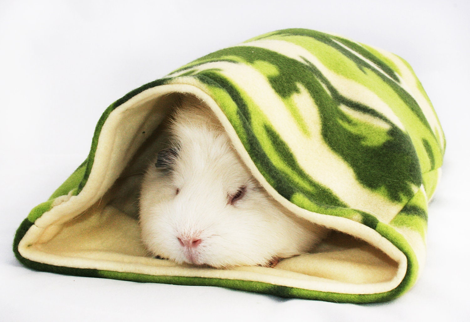 Cream Camo Guinea Pig Sleep-out Bag by Studio4Paws on Etsy